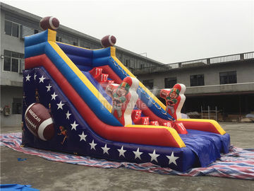 Customized Single Lane Rugby Commercial Inflatable Slide For Playground supplier