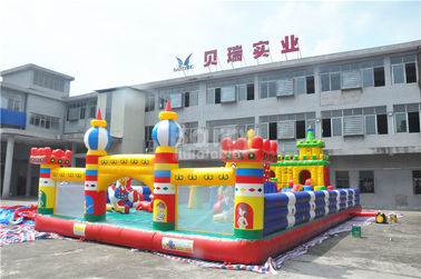 China Sport Theme Inflatable Bouncy Castle , 0.55 mm PVC Childrens Indoor Play Equipment supplier