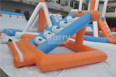 Cool Inflatable Floating Water Park / Inflatable Games For Adults supplier