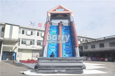 Grey Summer Commercial Splash Giant Inflatable Water Slide 25x4.3x9.5M