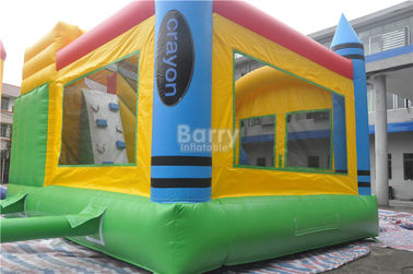 PVC Tarpaulin Inflatable Combo , 5x4x3.6m Kids Inflatable Bounce House With Slide supplier
