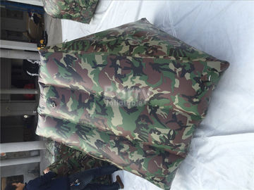 Customized camouflage Inflatable Sports Games / Inflatable Paintball Bunkers for Shooting Games supplier