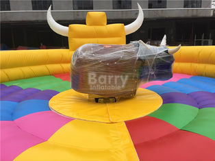 Funny Large Inflatable Mechanical Bull Games For 1 People  , Inflatable Rides
