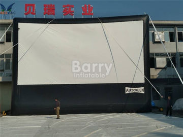 Cloth Inflatable Movie Screen For Outdoor Event , Inflatable Projector Screen supplier