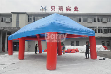 Outdoor Big Event Advertising Inflatable Tent , Red And Blue Portable Air-Saeled Tent supplier