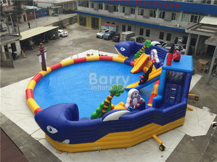Summer Sharp Inflatable Water Park , Crocodile Island Inflatable Water Slide supplier