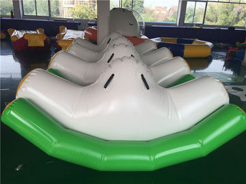 3*2*1.5m Green Inflatable Seesaw / Blow Up Toys For Pool In Hot Summer supplier