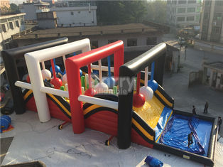 OEM Giant Inflatable Obstacle Course , Wrecking Ball Game For Event supplier