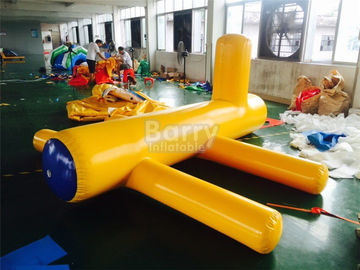 Airtight Samll Yellow Inflatable Water Floats / Blow Up Water Toys