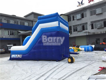 Blue Small Commercial Inflatable Slide For Children / Backyard Water Slide supplier