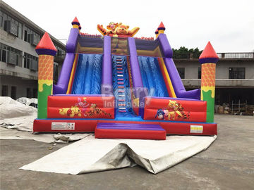 Professional Double Lanes Bear Kid Inflatable Slide 12*8*8m Or Customized supplier
