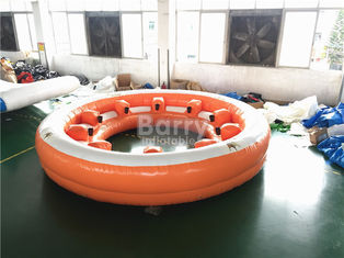 Amazing Inflatable Water Toys , 10 People Inflatable Floating Sofa With Coffe Cup supplier