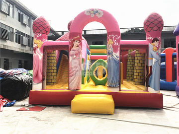 China Big Pink Princess Inflatable Bouncer , Professional Commercial Bounce House supplier
