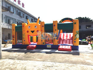 Fire - resistant Big Inflatable Bounce House With Slide Combo SCT EN71 supplier