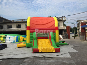 Clearance Inflatable Bouncer , Beautiful Jump House With Small Slide supplier