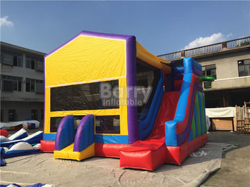 China 0.55mm Pvc Amazing Bounce House Slide Combo For Outdoor Entertainment supplier