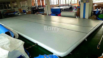 Indoor Training Air Track Gymnastics Mat , Grey Squre Prix Air Track supplier