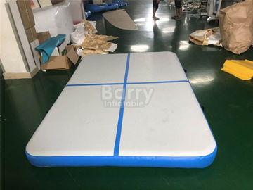 China Blue Squre Air Track Tumbling Mat , Tumble Track Inflatable Air Mat For Gymnastics supplier