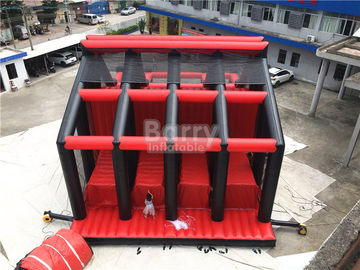 Attractive Rides Jump Kids Red Drop Tower Inflatable Interactive Games / Funny Drop Tower supplier