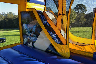 Tarpaulin Sewing Batman C4 Combo Inflatable Jumping Castle For Backyard Commercial supplier