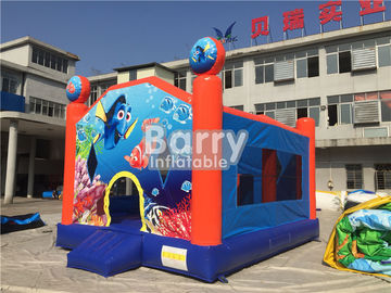Customized Seaworld Theme Inflatable Bouncer For Kids / Blow Up Jumping Castle supplier