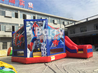 Customized Size Spiderman Inflatable Combo Jumping Castle With Slide For Zoo Park supplier