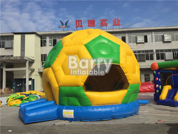 Commercial Inflatable Football Bouncer , PVC Tarpaulin Soccer Blow Up Bounce House supplier