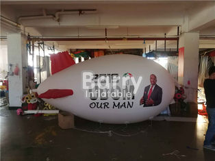Large Advertising Airplane Balloon Inflatable Blimp With Custom Logo Printing supplier