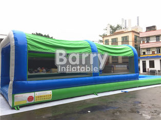 Easy Set Up Inflatable Water Slides PVC Silk Screen Printing / Blow Up Slip N Slide