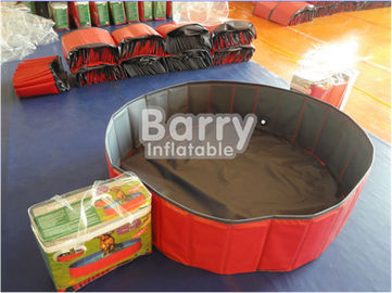 Red Foldable Dog Pet Swimming Pool Customized Size 3 Years Warranty supplier