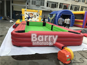 China Giant Pool Table Soccer Inflatable Sports Games / Inflatable Snooker Field supplier