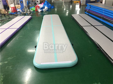 Blue 4m Air Track Gymnastics Mat , Drop Stitch Tumbling Air Track supplier