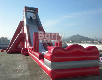 Fun Giant Red Hippo Water Slide / Inflatable Slip N Slide For Adult supplier