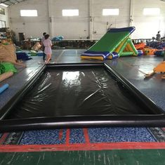 Air Sealed Type Inflatable Car Wash Mat Water Collector Boarding With Drain supplier