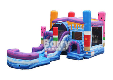 Ice Pops Mega Front Loader Inflatable Combo Bouncer For Kids supplier