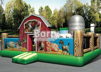 China Outdoor Playground Giant Farmyard Toddler Obstacle With Logo Printing supplier