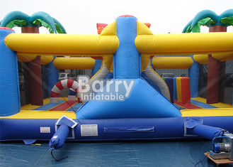 0.55m PVC Material Inflatable Park Equipment Playground / Outdoor Holiday Beach Inflatable Playland supplier