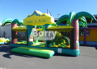 China Outdoor n Indoor PVC Material Equipment Toys Jungle Theme Big Toddler Inflatable Playground supplier