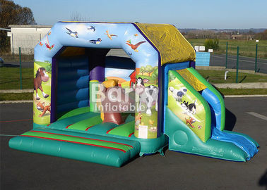 China Commercial Children Inflatable Farm Theme Bounce House Combo With Slide For Kids supplier