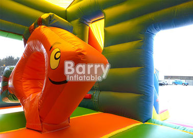 Nemo Fish Mini Inflatable Combo Jumping Bouncy Castle Slide Combo For Kids supplier