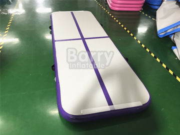 China Outdoor Small Portable Kids A Purple Air Track Gymnastics Mat For Body Building With Carry Bag supplier