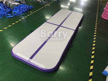 Outdoor Small Portable Kids A Purple Air Track Gymnastics Mat For Body Building With Carry Bag supplier