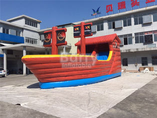 Playful Giant Pirate Ship Inflatable Bouncer Castle Combo With Slide supplier