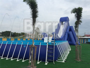 Outdoor Durable 0.9mm PVC Tarpaulin Metal Frame Swimming Pool For Water Park supplier