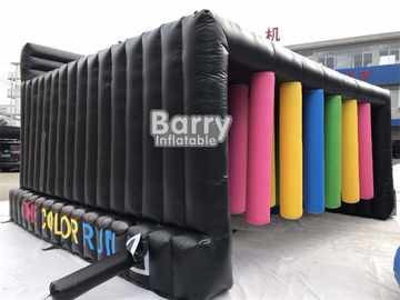Customized Inflatable Interactive Games With Obstacle Color Run / Inflatable Sports Games supplier