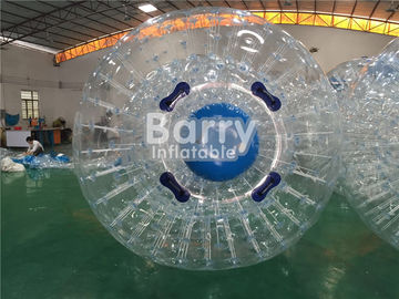 TPU / PVC Inflatable Land Zorb Ball , Clear Body Bumper Zorb Ball supplier