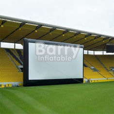 China Commercial Black Inflatable Movie Projector Screen For Outdoor Event supplier
