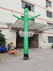 Custom Mini Inflatable Sky Dancer Single Leg Air Tube Dancing Man For Advertising supplier
