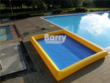 Custom Made 0.9mm PVC Inflatable Swimming Pool Air Sealed Blue Rectangle supplier