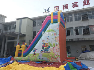 PVC Commercial Inflatable Slide / Custom Design Inflatable Dry Slide Playground supplier